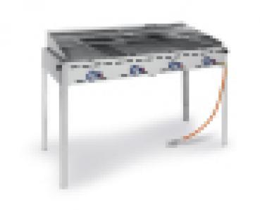 Grillsystem Greenfire mit 4 Brennern, 22 KW, mit Rollenunterbau