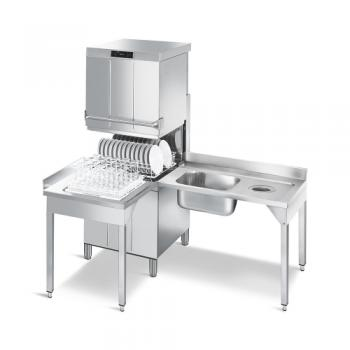 SMEG Haubenspülmaschine HTY620DH, doppelwandige Haube, Wrasenwärmerückgewinnung (SHR), Korb 600X500 oder 500X500 mm
